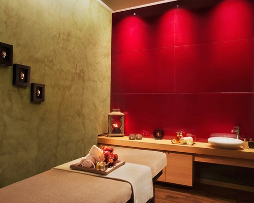 Spa with massage bed.