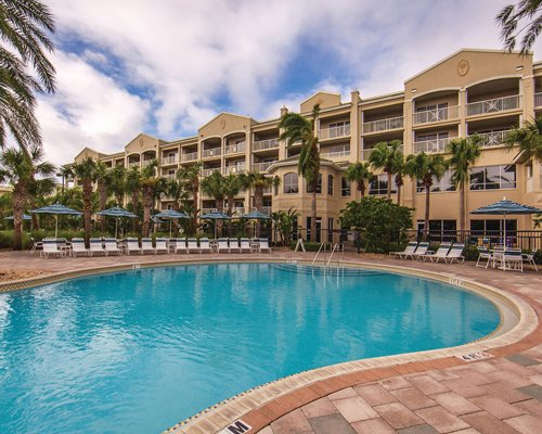 Scenic exterior view of Holiday Inn Club Vacations Cape Canaveral Beach Resort.
