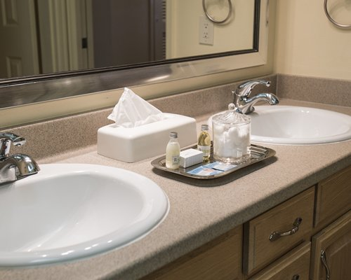 A double sink vanity.