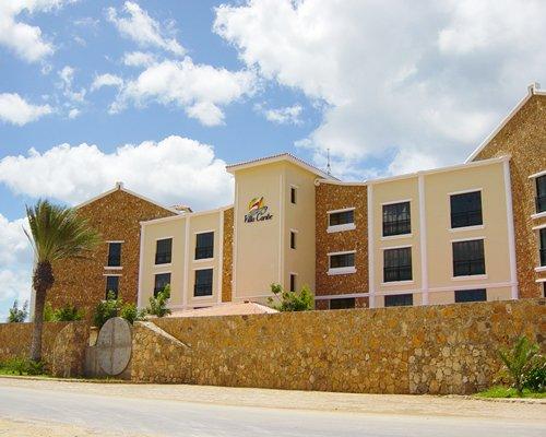 A street view of Villa Caribe resort units.