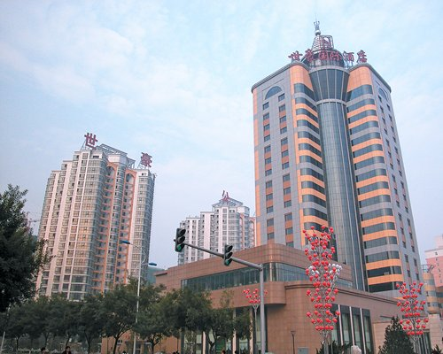 Scenic exterior view of Beijing Shihao International Hotel.