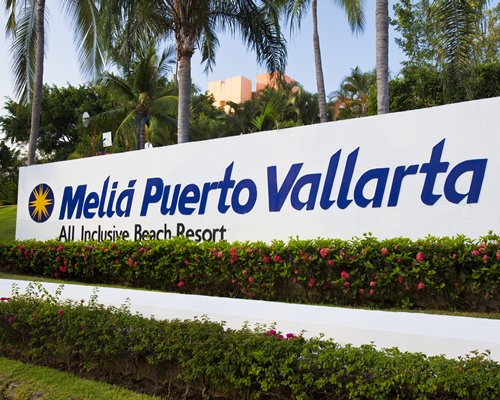 Signboard of Club Melia at Melia Puerto Vallarta resort.
