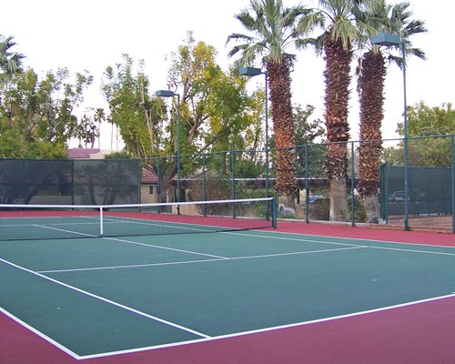 Outdoor tennis court.