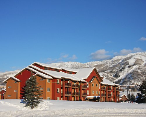 Scenic exterior view of Vacation Internationale The Village during winter.