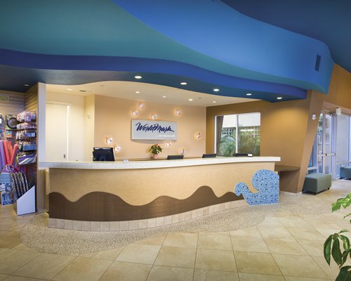 Reception lobby at the WorldMark Oceanside.