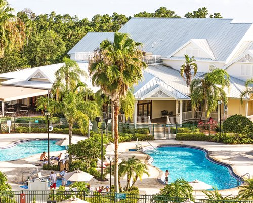 Scenic view of the WorldMark Orlando Kingstown Reef with two outdoor swimming pool.