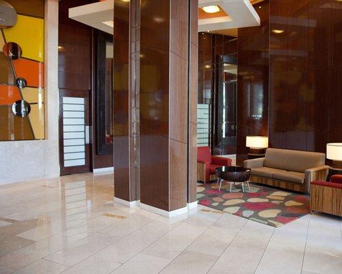 Reception lobby at the ULTIQA at Chevron Renaissance.