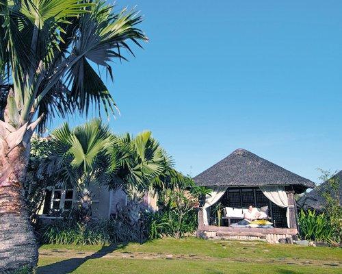 An outdoor spa area.