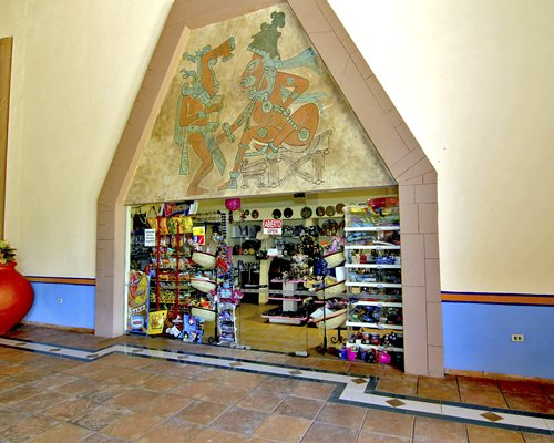 A well stocked gift shop at the Reef Yucatan Hotel & Convention Center.