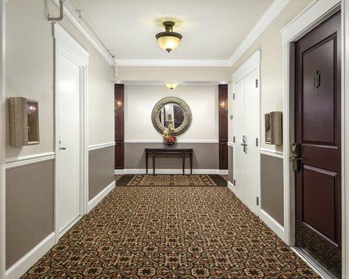 An indoor hallway.