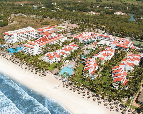 An aerial view of Marival Resort and Suites.