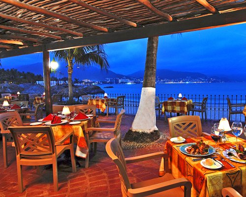 View of fine dining restaurant with the beach view.