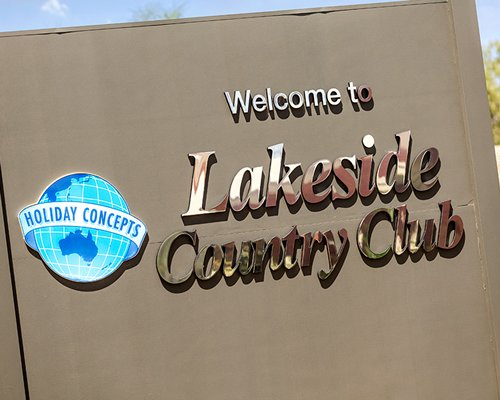 Signboard of Lakeside Country Club.
