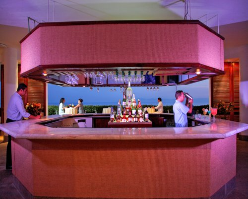 An indoor bar at the Presidente Intercontinental Puerto Vallarta resort.