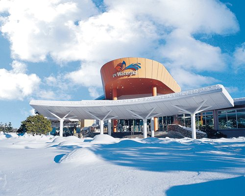 The entrance of the waterpark at Hanwha Resorts Seorak Sorano.
