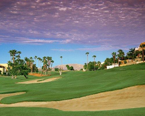 Reception and lounge area at The Grand Mayan at Vidanta Cabos.