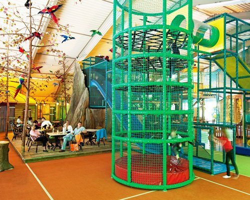 An indoor play area.