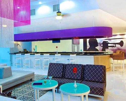 An indoor bar at the resort.