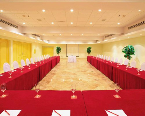 An indoor conference room at the resort.