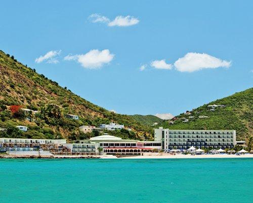 Beach view of the resort.