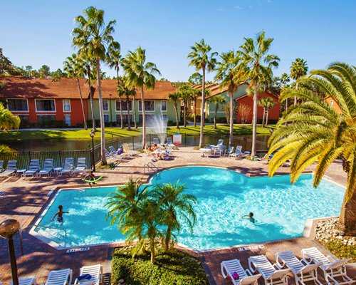 Legacy Vacation Club Orlando Spas with outdoor swimming pool alongside the waterfront.