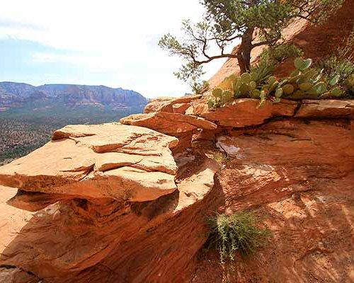 A rocky mountain.