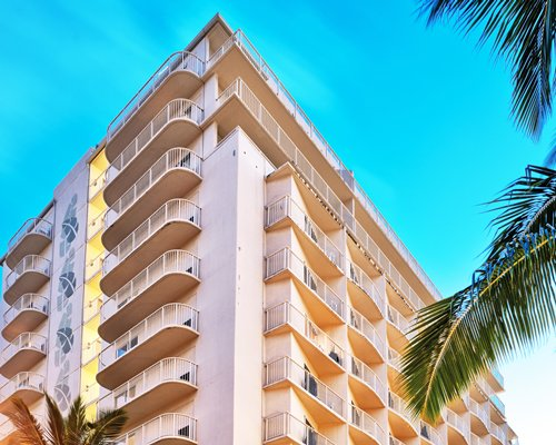 Exterior view of Wyndham at Waikiki Beach Walk resort.