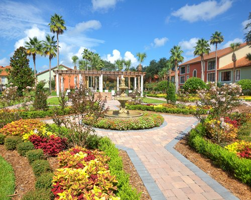 A paved pathway alongside the resort.