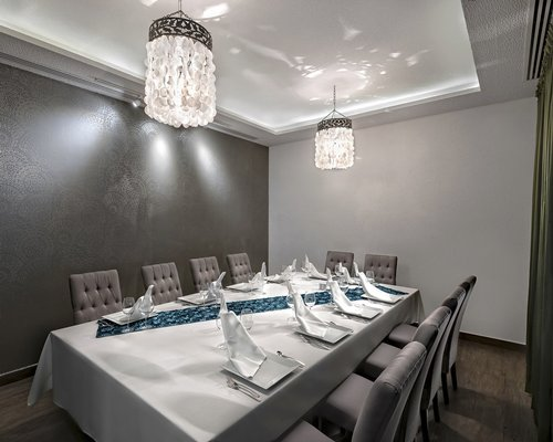 A private dining room.
