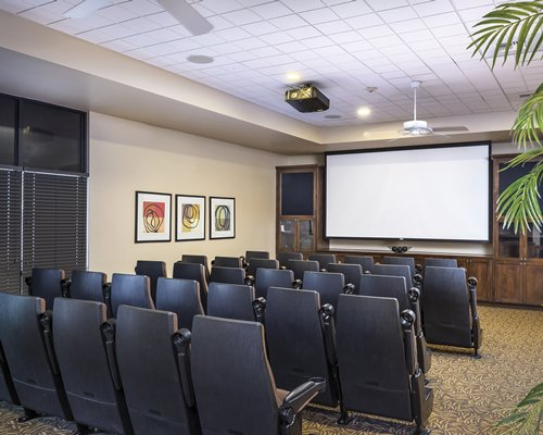 An indoor theater at the resort.