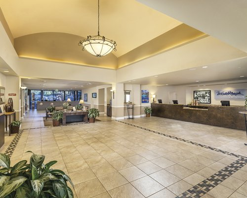 Reception and lounge area at WorldMark Indio.