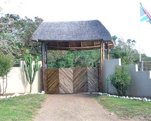 The entrance gate of the Nibela Lodge.