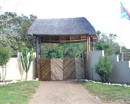 The entrance gate of the Nibela Lodge.