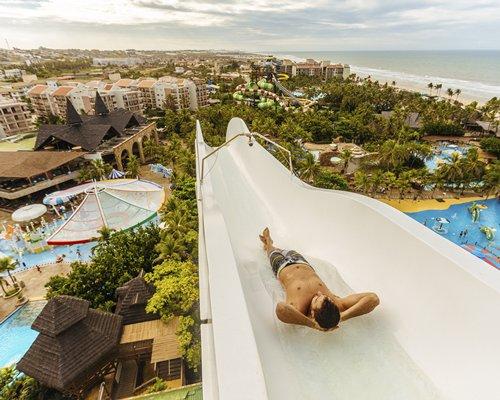 A scenic amusement park.