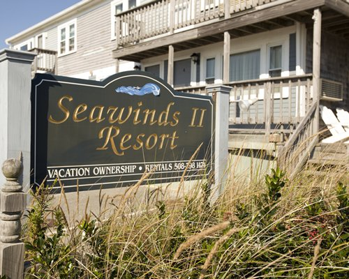 A signboard of the Sea Winds Ii alongside the resort.