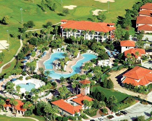 An aerial view of Holiday Inn Club Vacations At Orange Lake Resort  North Village.