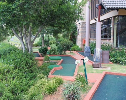 Miniature golf course alongside the Alpine Heath Resort.
