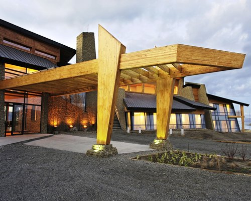 The entrance of Design Suites Calafate resort.