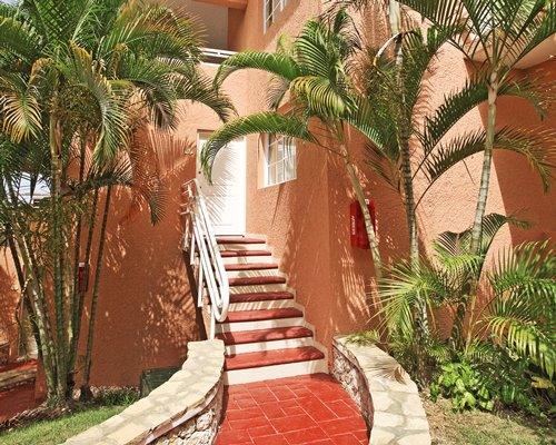 A stairway leading to the resort unit.