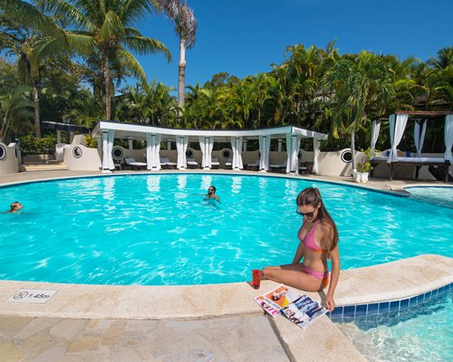 The Crown Suites at LHVC Resort with large outdoor swimming pool.