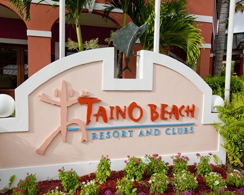 Signboard of The Marlin at Taino Beach resort.