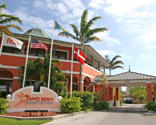 Entrance of The Marlin at Taino Beach resort.
