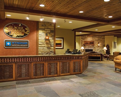 Reception and lounge area at Wyndham Vacation Resorts.