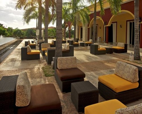 An outdoor lounge area at the resort.