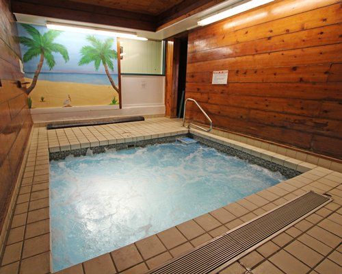 An indoor hot tub at the resort.