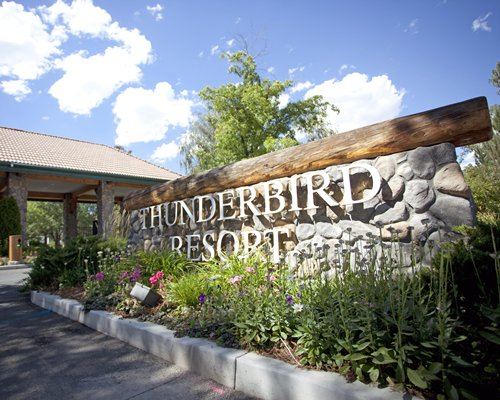 Signboard of Thunderbird Resort Club.