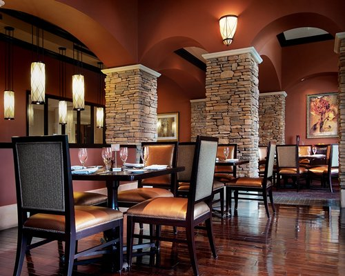 An indoor restaurant at Reunion Resort & Club.