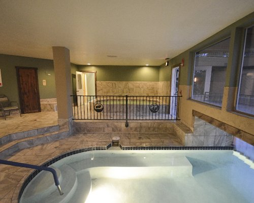 View of indoor hot tubs.