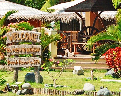 Signboard of the El Puerto Marina Beach Resort.