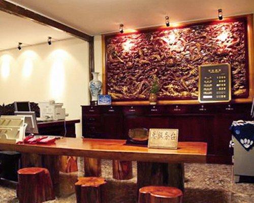 Reception at Lijiang Sina Hotel.